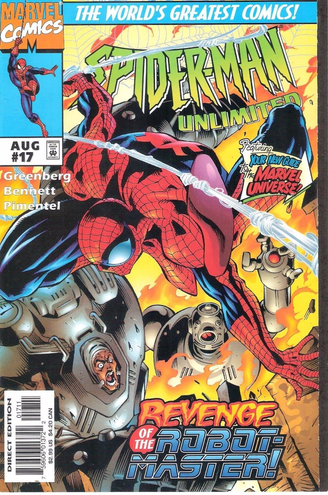 """Spider-man unlimited #17 1st print """"i, robot #master"""" #(1993) #marvel revelations,  View more on the LINK: http://www.zeppy.io/product/gb/2/401258870185/"""