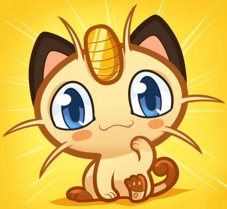 Meowth Desktop Nexus Wallpapers Chibi Drawings Pokemon Chibi