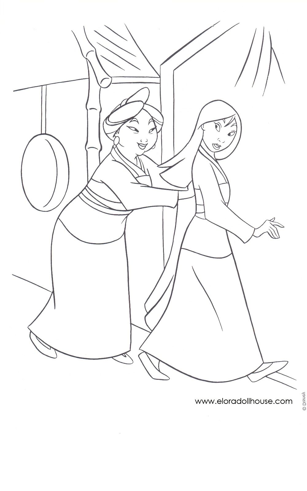 mulan coloring pages | Disney Mulan Coloring Pages #6 ...