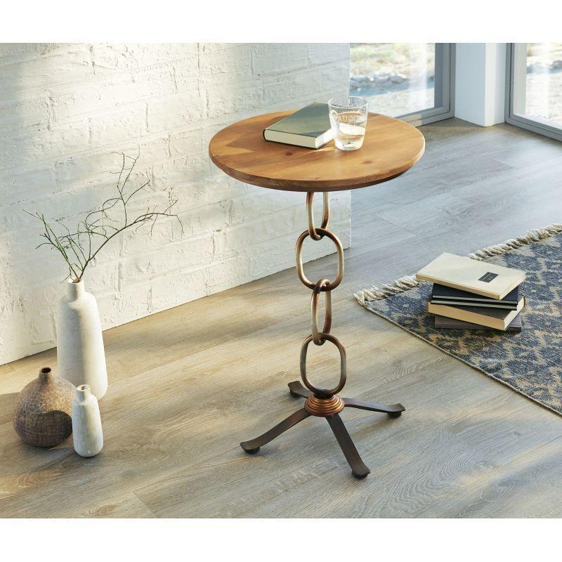 Designer Beistelltisch Kette Couchtisch Vintage Industrial Holz