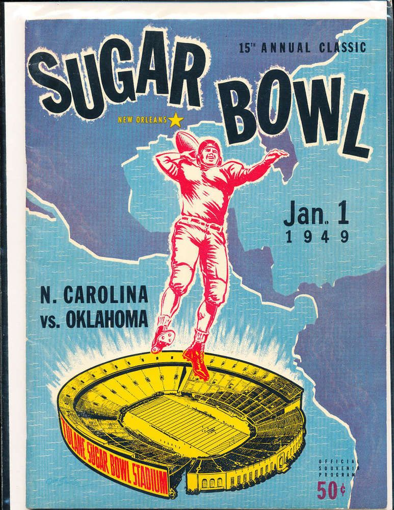 Details about 1949 sugar bowl football program north