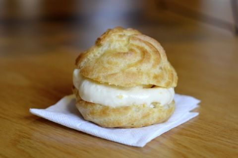 Choux Pastry with Vanilla Bean Cream