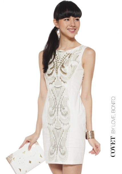 Covet Delonne Dress - Love Bonito | Sharing our love for fashion here at Singapore's leading online fashion destination.