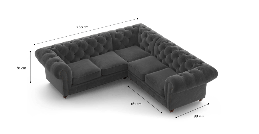 Notting Hill Velvet Chesterfield L Shaped Modular Corner Sofa In 2020 Corner Sofa Design Modular Corner Sofa Corner Sofa