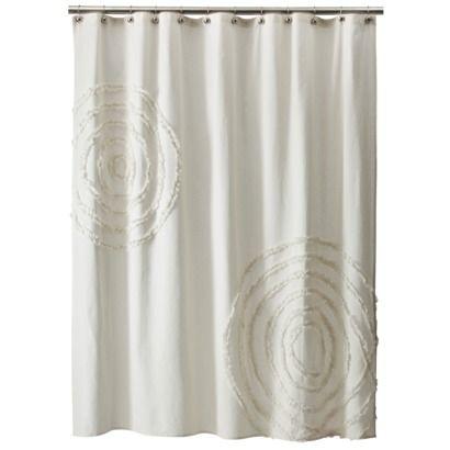 Threshold Shower Curtain Ruffle Ivory House Pinterest Ruffle Shower Curtains Upstairs