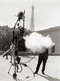 Robert Doisneau, Jean Tinguely - Portrait de l'artiste (Jean Tinguely - Portrait of the artist) @artsy