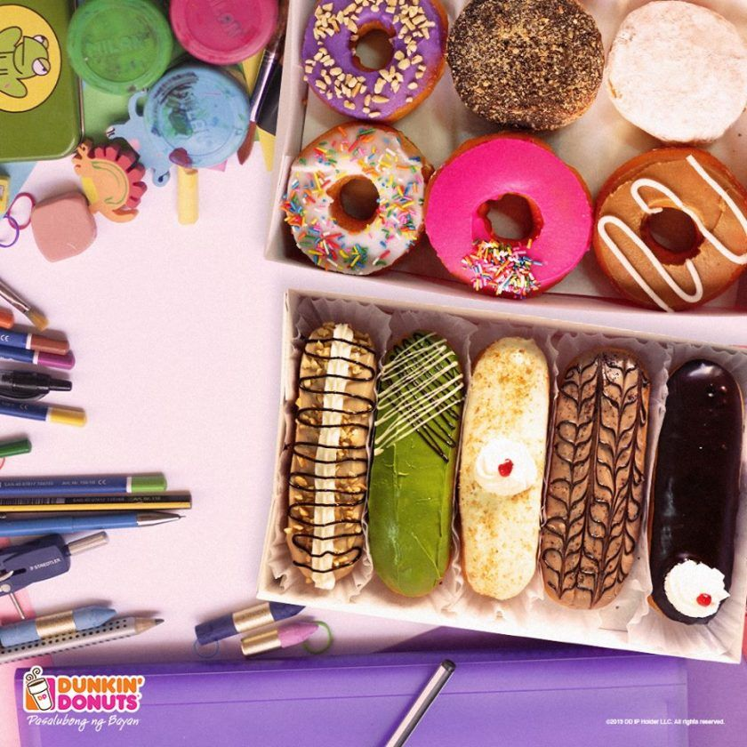 Dunkin donuts a box of 5 dd bars plus 6 classic donuts for