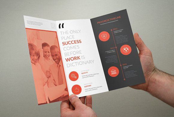 Clean Multipurpose Trifold Brochure by bouncy on @creativemarket ...