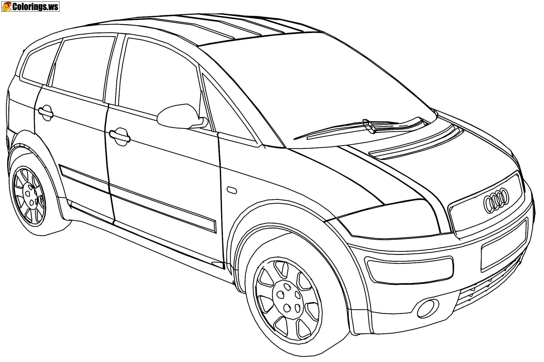 Audi Car Coloring Pages Car Coloring Pages Over Time They