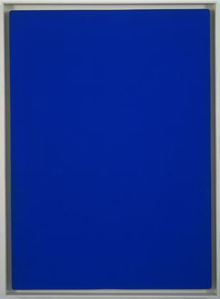 Yves Klein. Blue Monochrome. Dry pigment in synthetic polymer medium on cotton over plywood.1961