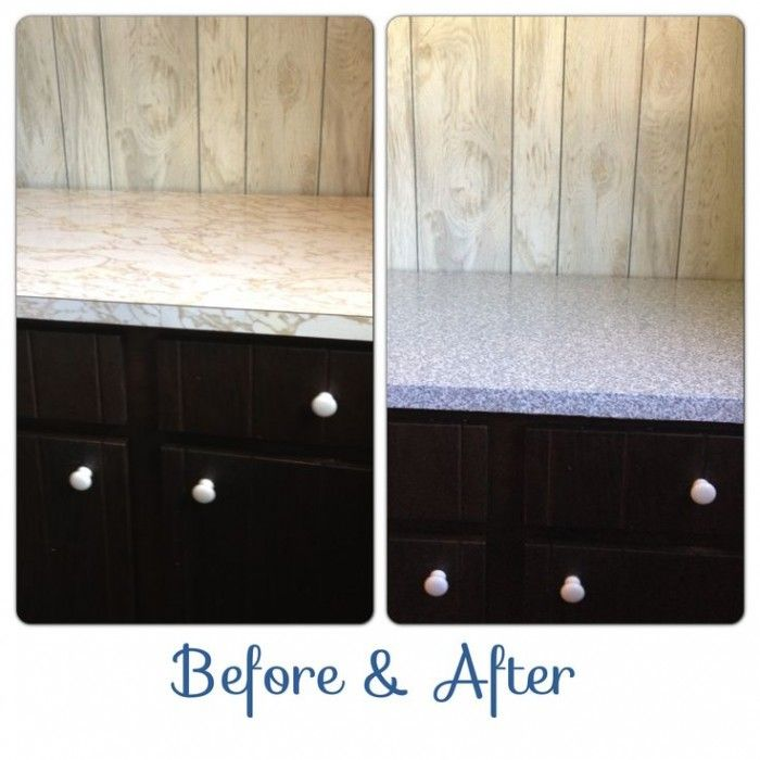 Granite Contact Paper Countertops Before U0026 After. (In A Rental House)