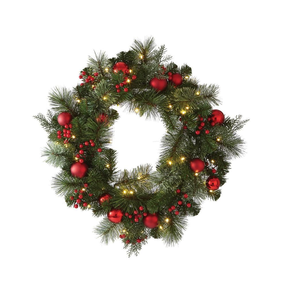 artificial christmas wreath with cedar and pine