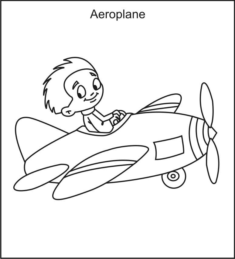 Airplane Coloring Pages Pilot