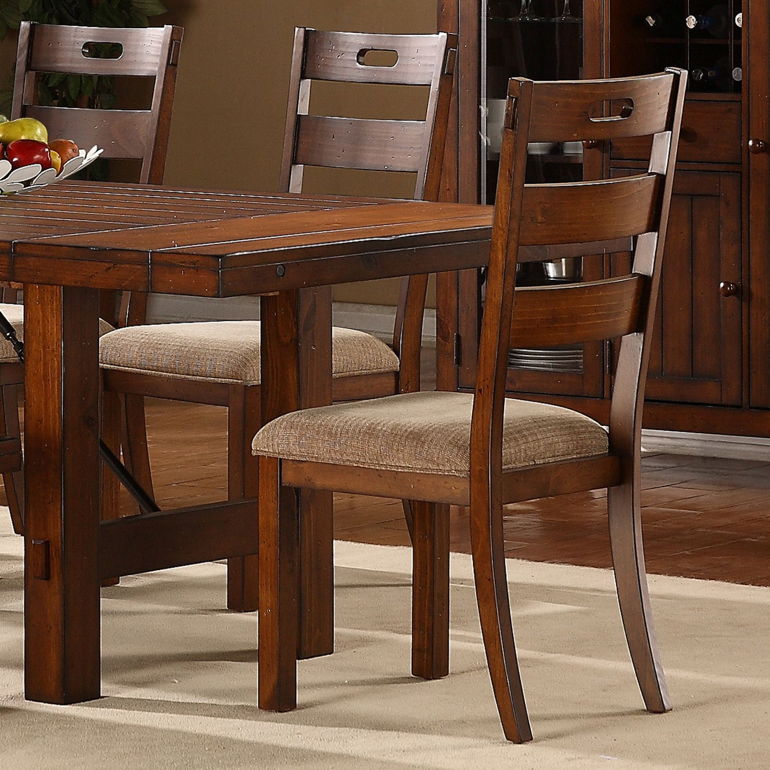 Swindon Rustic Oak Classic Dining Chair (Set of 2) by ...