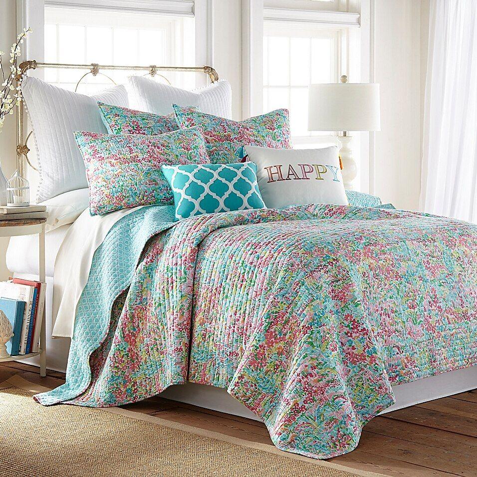Levtex Home Karola 3 Piece Reversible Quilt Set Bed Bath Beyond In 2021 King Sets Bedding