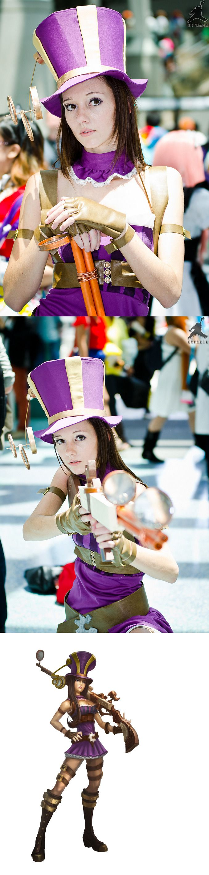 Caitlyn: The Sniper Master  - League of Legends   Anime Expo 2012