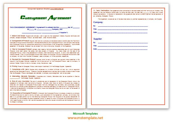 Doc460595 Consignment Form Template Consignment Agreement – Consignment Form Template