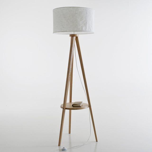 Beautiful Stehlampe Setto Dreibein Lampenschirm Leinen