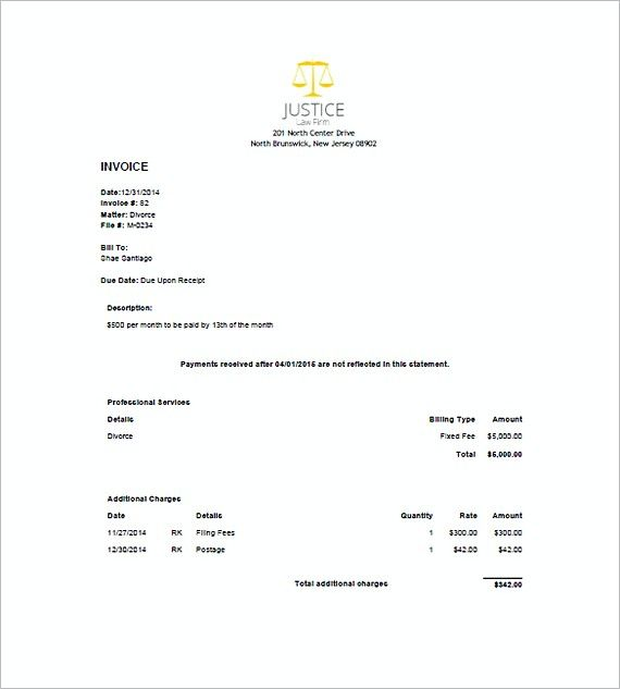 legal invoice template word  legal invoice sample , Attorney Invoice Template , What to Know ...