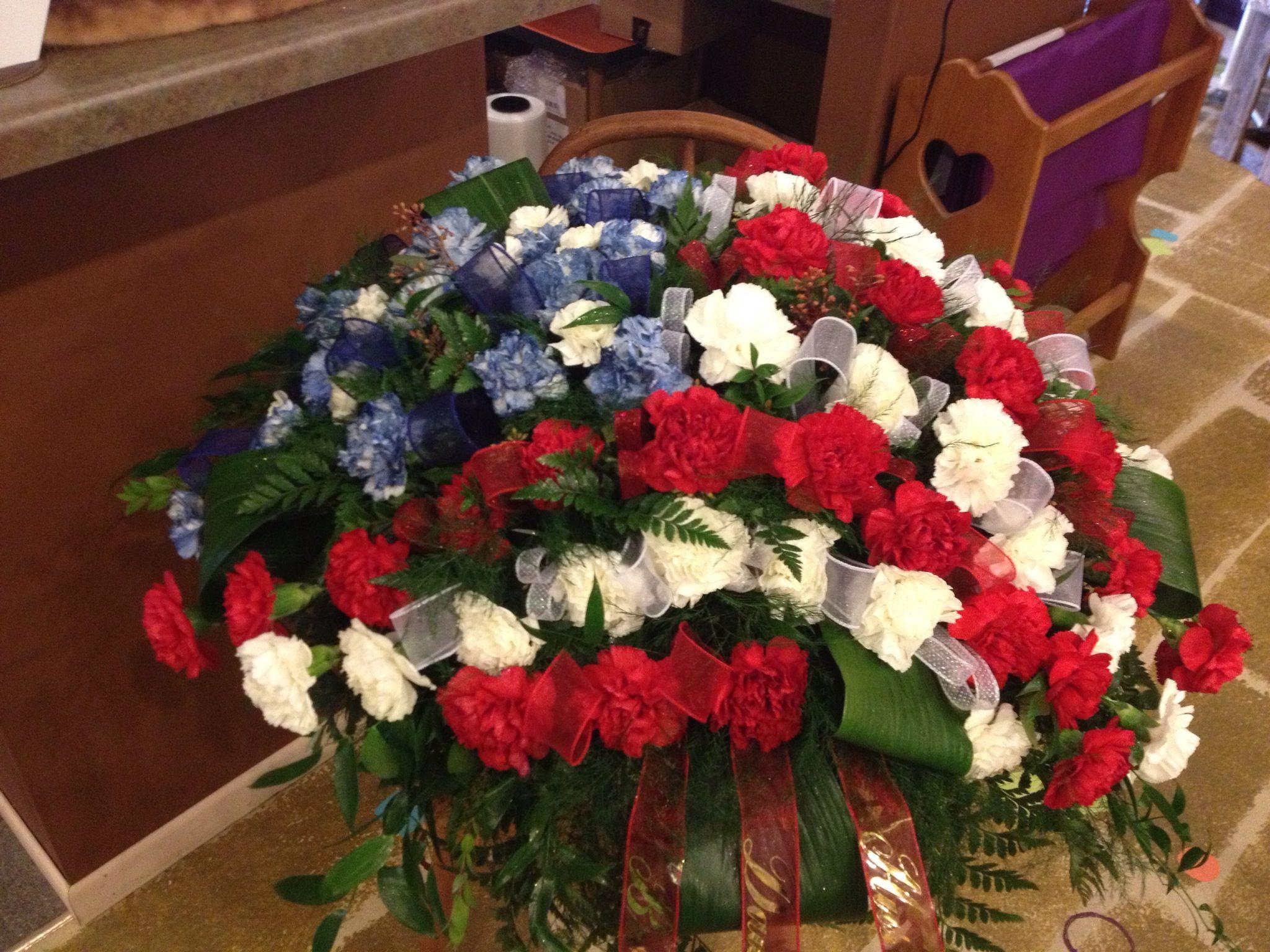 casket spray … | Funeral flower arrangements, Casket ...  |Casket Flowers