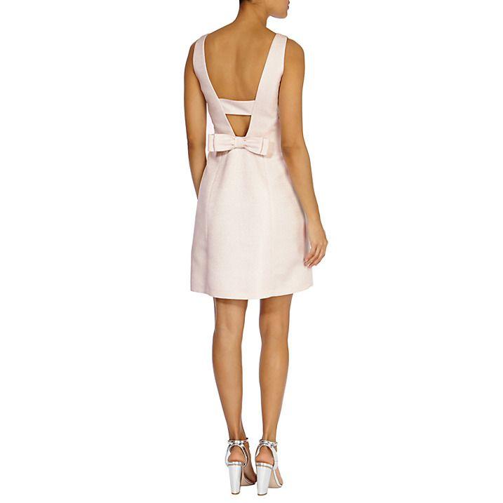 Buy Coast Jimena Sparkle Dress, Blush, 6 Online at johnlewis.com