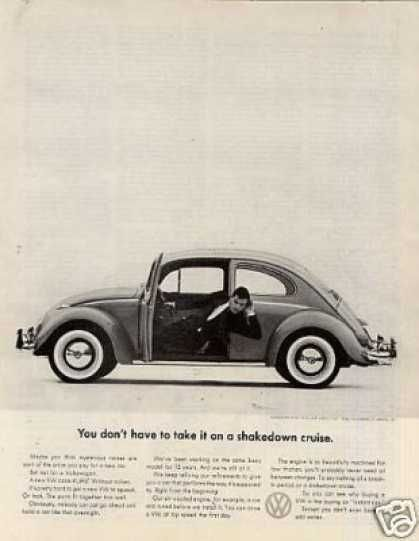 """Volkswagen Car Ad """"You Don't Have To Take It... (1961)"""