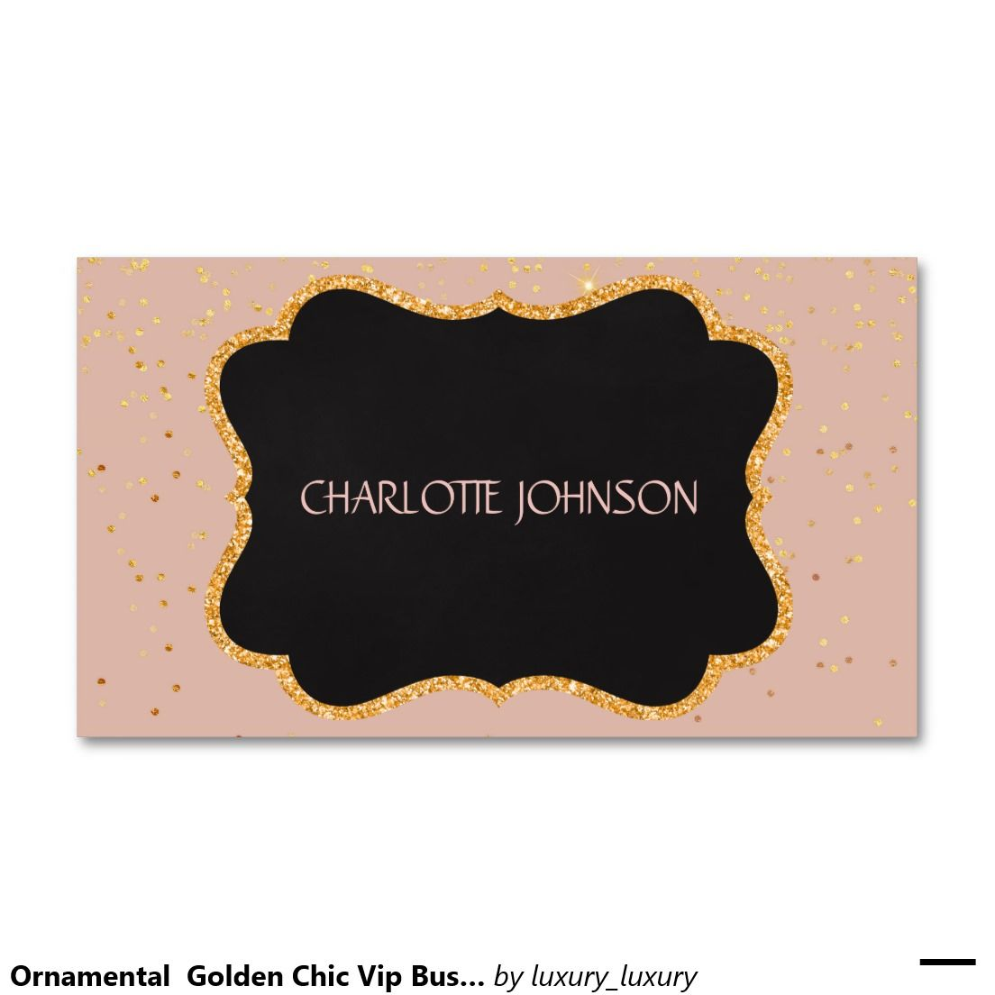 Ornamental Golden Chic Vip Business Card | Business cards, Vip and ...
