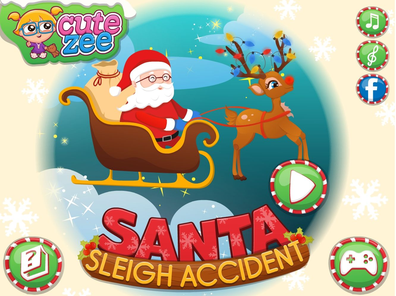 Oh no! Santa had a sleigh accident! Help him get to the kids in time! http://www.cutezee.com/santa-sleigh-accident