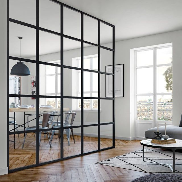 Verriere Orangerie Sur Mesure Alu Noir Satin H 30 Cm A 2 50 M L 30 Cm A 4 00 M Leroy Merlin Idees Loft Verriere Decoration Maison