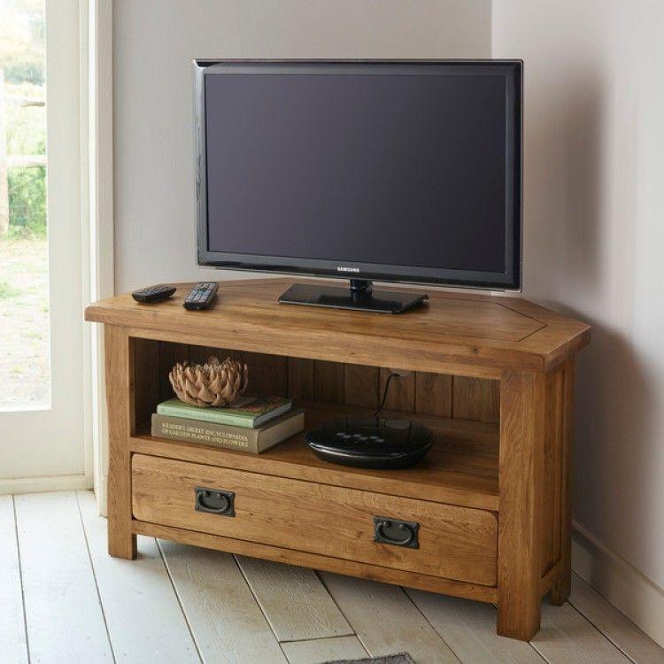 Rustic Corner Tv Unit In Solid Oak Oak Furnitureland Corner Tv Stand Oak Corner Tv Stand Corner Tv Cabinets Oak tv stands for 55 inch tv