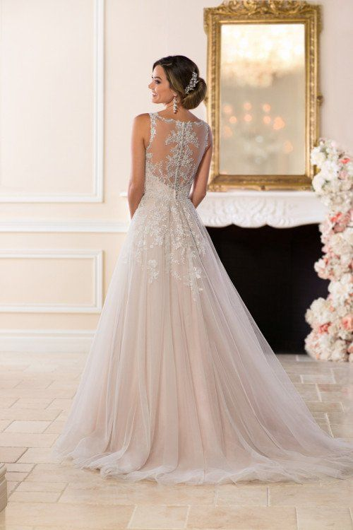 dda43c0e95 Whimsical wedding dress idea - a-line wedding dress with lace ...