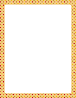 Fall Polka Dot Border  Printable    Clip Art Pdf And