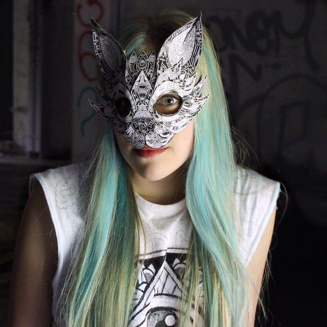 Made some animal masks with my sister @art_by_anna_ !😺 We went to an old abandoned mill a while ago to take pictures, loved the place it was so cool 🏭 ( and yea thanks to @tanhuavain and @_picturosa_ for awesome company! ) Really liked making these mask-thingies although I'm not sure what animal this is😁 and of course go check out Anna's work! 👉🏼 @art_by_anna_  #creativempire #animalmask #bluehair #capturingcreativitywmysis