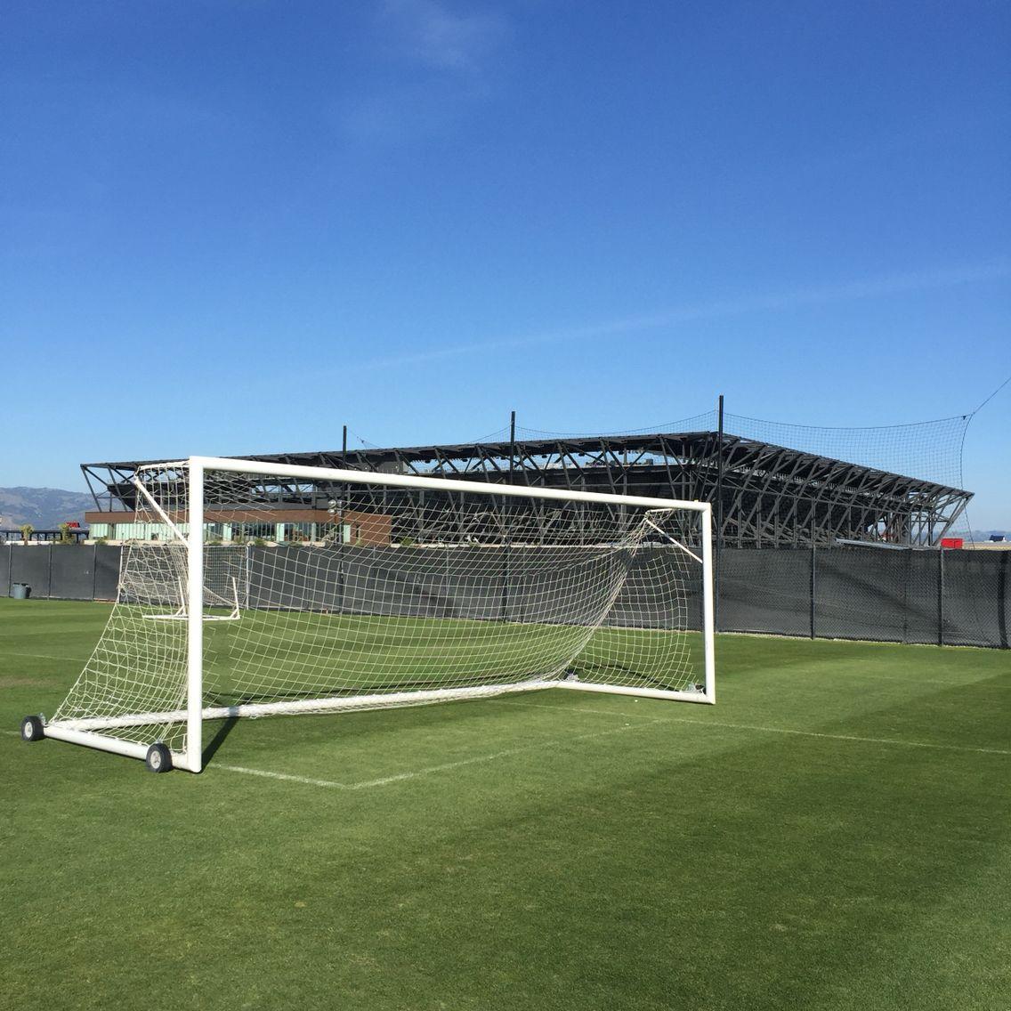 Earthquakes training pitch, Avaya Stadium in background