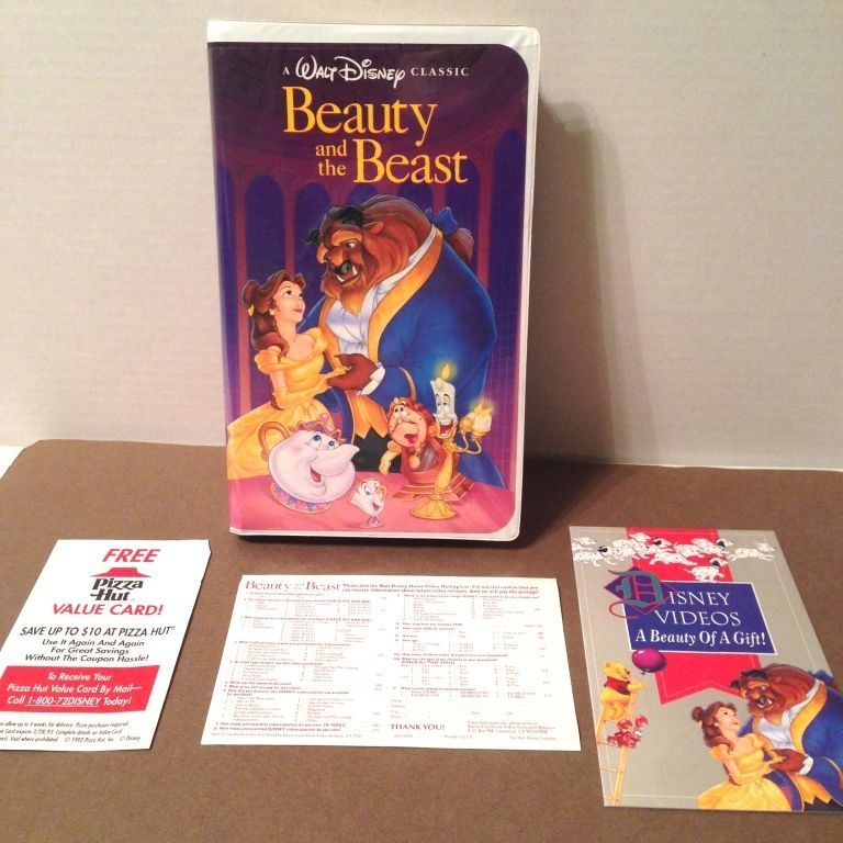 Black Diamond Beauty And The Beast Vhs Disney Classics W Video Booklet Inserts Beauty And The Beast Classic Disney Beast
