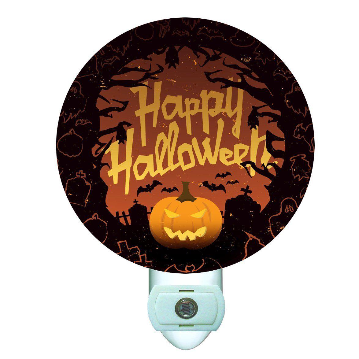 Happy Halloween Decorative Round Night Light