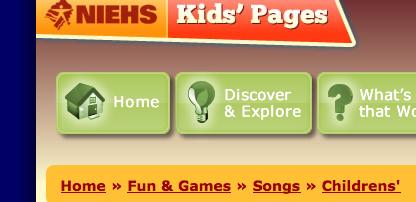 Embedded MIDI files and lyrics to popular children's songs