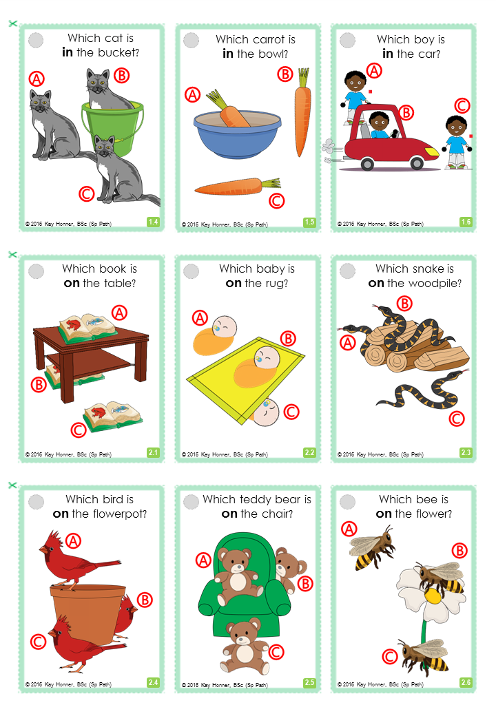 Spatial Prepositions 72 Cards With Visuals Basic
