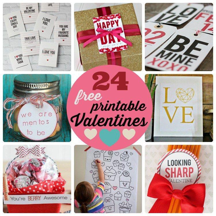Great Ideas -- 24 Free Printable Valentines! | Free printable ...