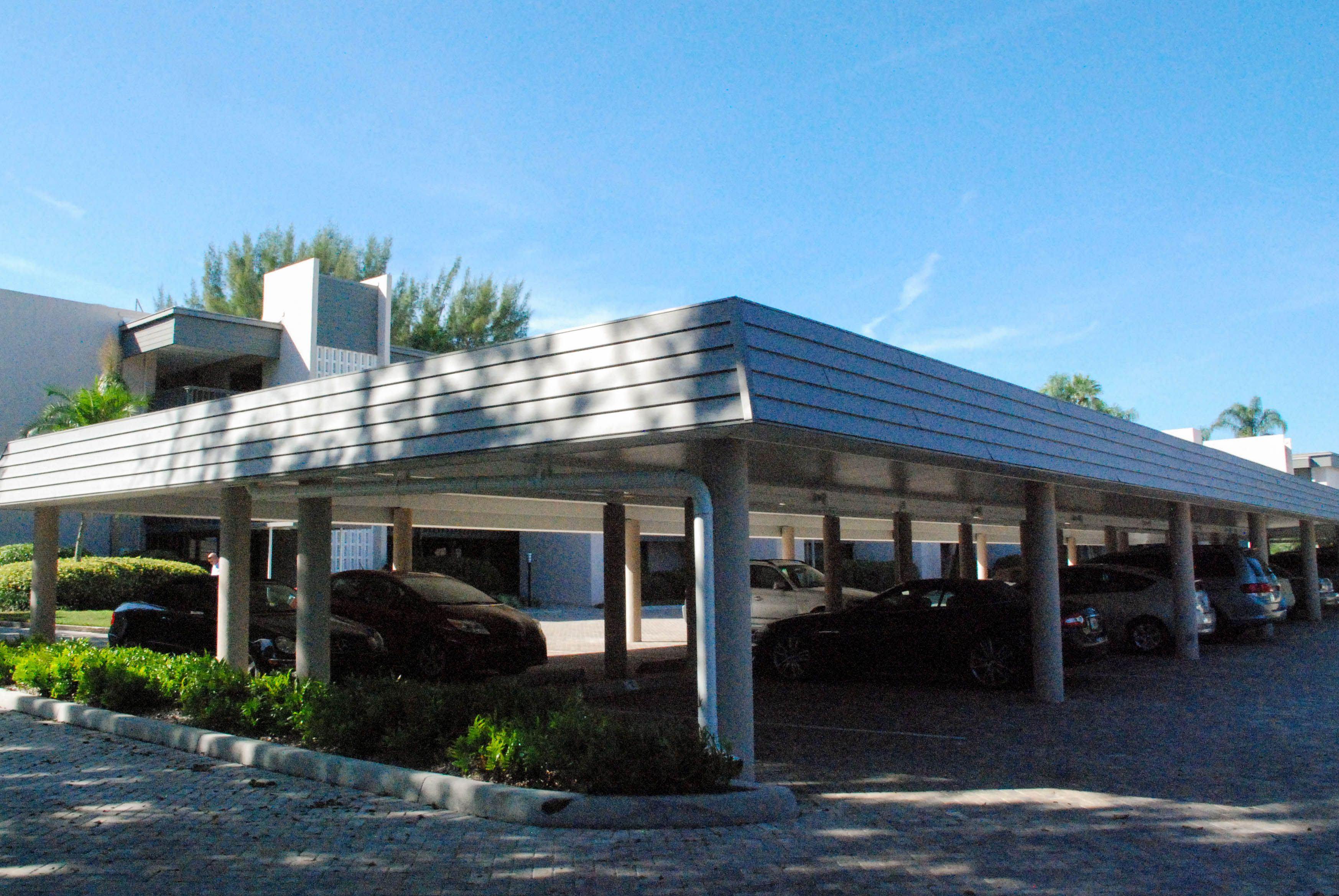 Commercial aluminum carport roof Metal roofing systems