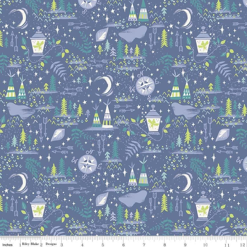 MAIN BLUE NEVERLAND RILEY BLAKE fat quarter 100/% COTTON FABRIC PETER PAN