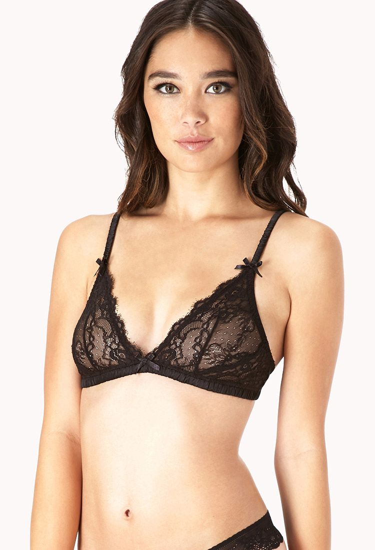 Sheer Floral Lace Bralette | FOREVER21 - 2000128901 | under things ...