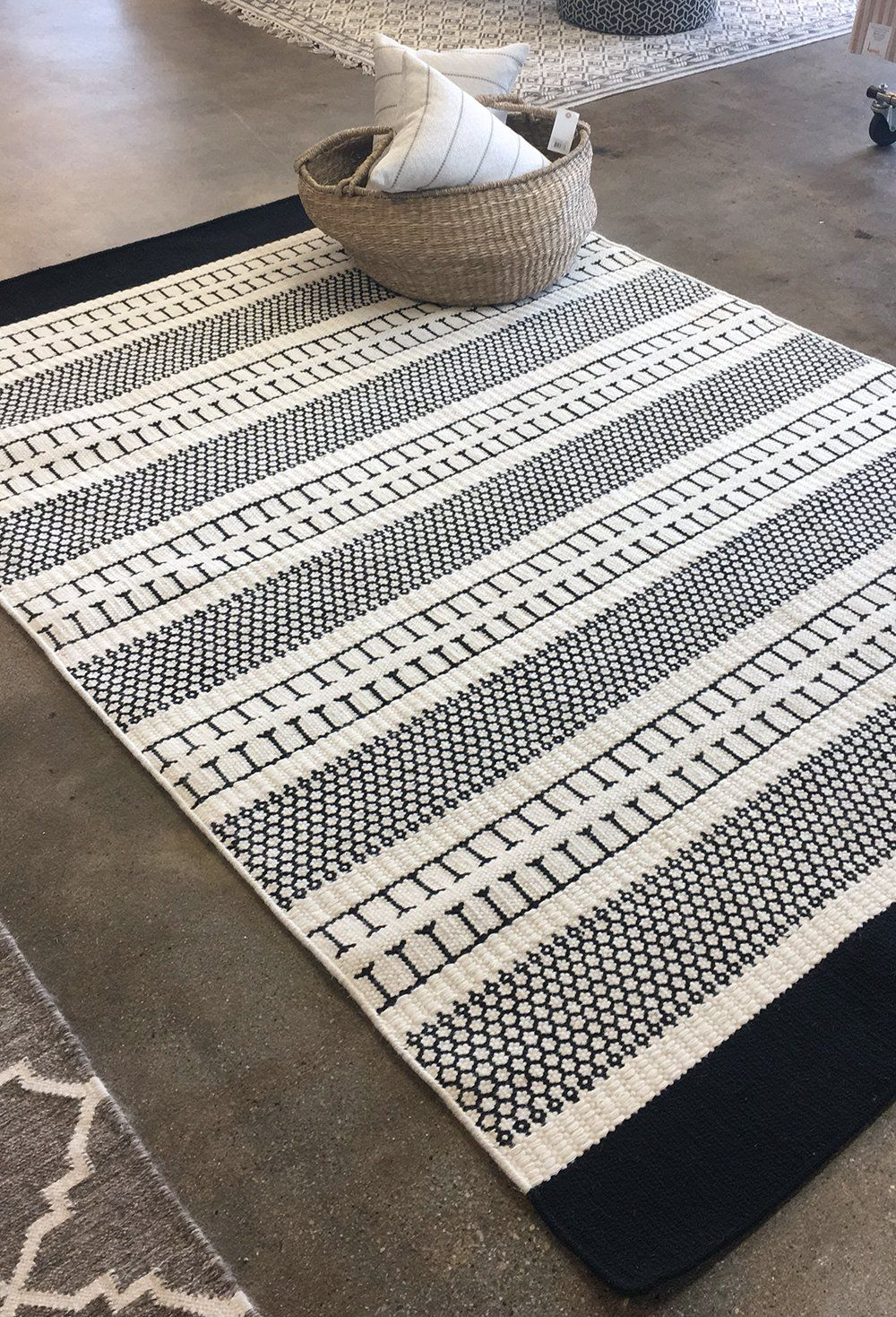 Randers Rug Tonic Living A Black And White Flat Weave Rug That