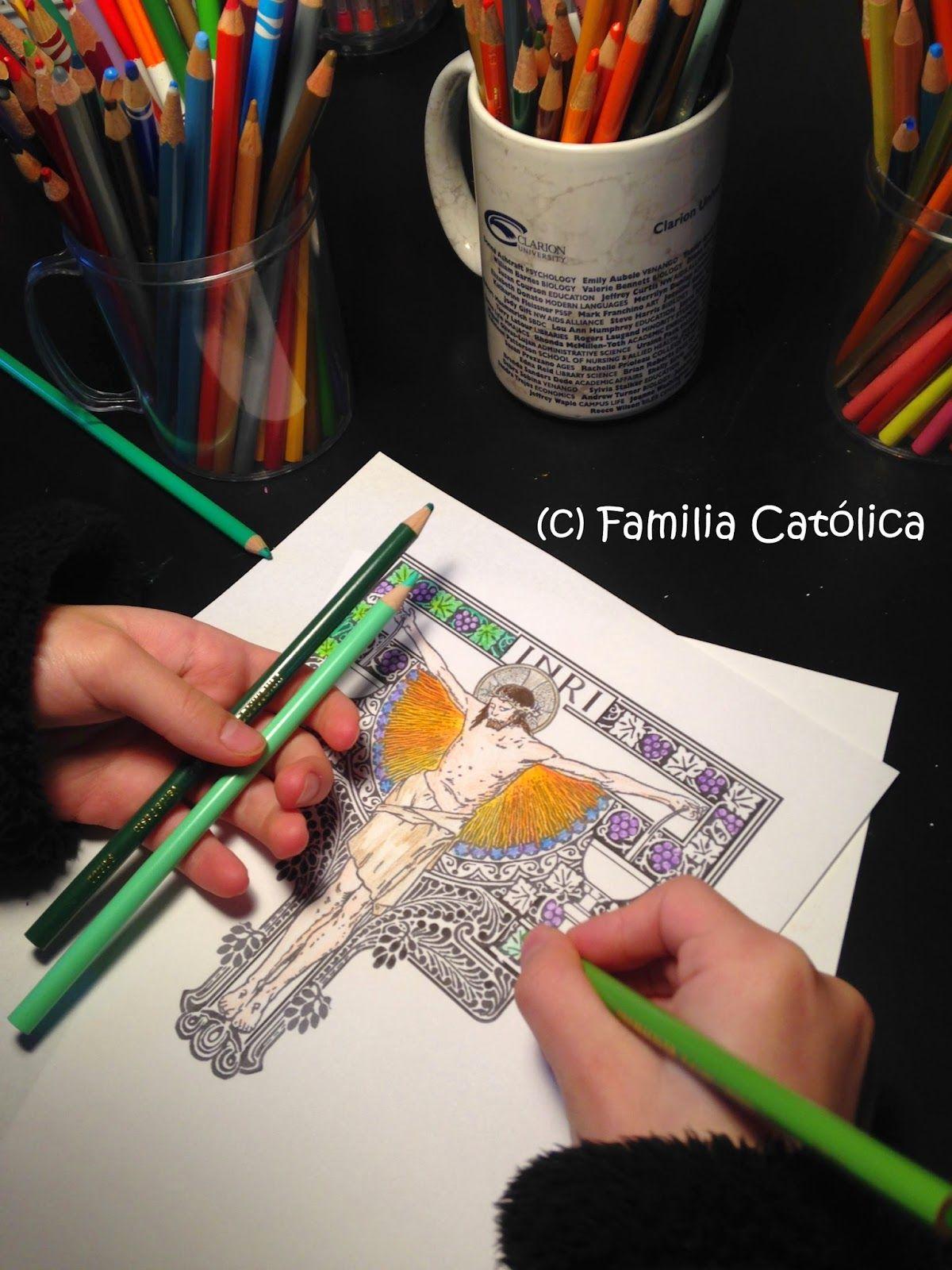 Moderno Libro De Colorear Católico Composición - Dibujos Para ...