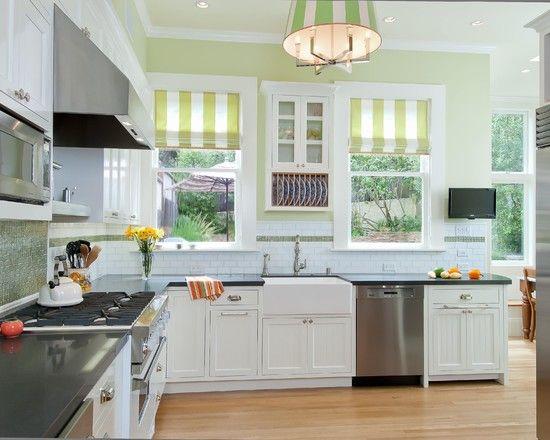 French Country Charm Green Kitchen Walls Kitchen Interior Green Kitchen Designs