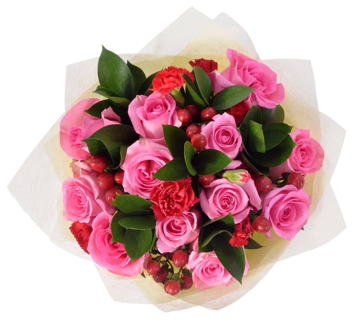Stunning Pink Roses With Carnations Bouquet Carnation Bouquet Flower Gift Pink Roses