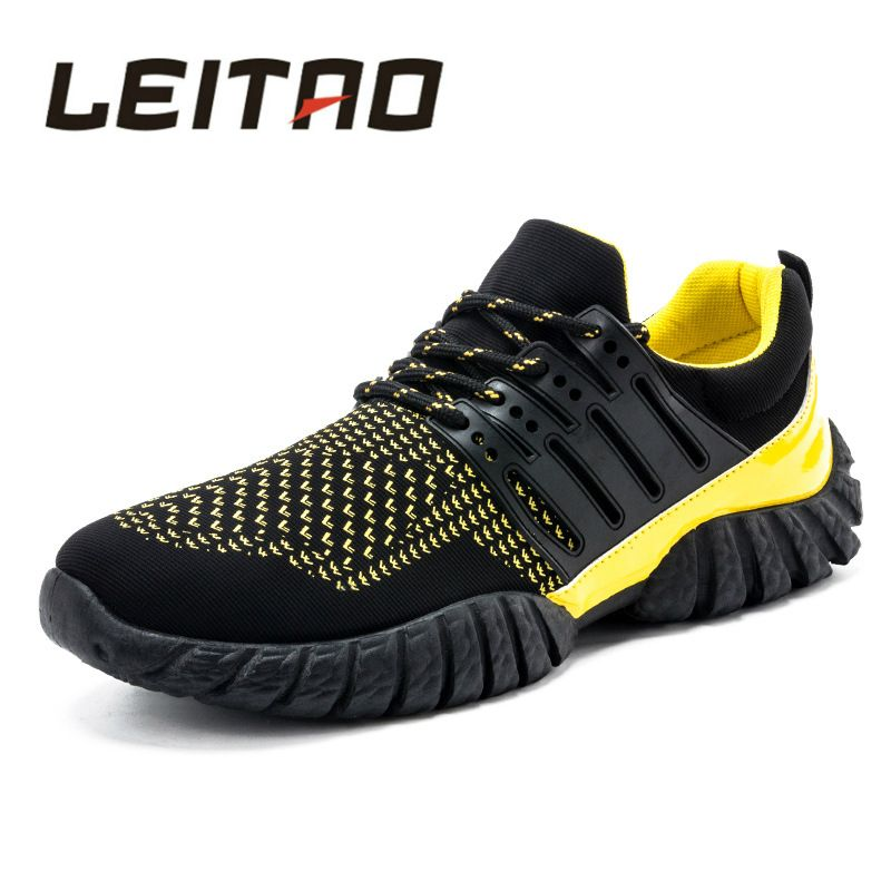 Men's Running Shoes Mesh Breathable Gym Shoes Leisure Lace-up Sport Shoes