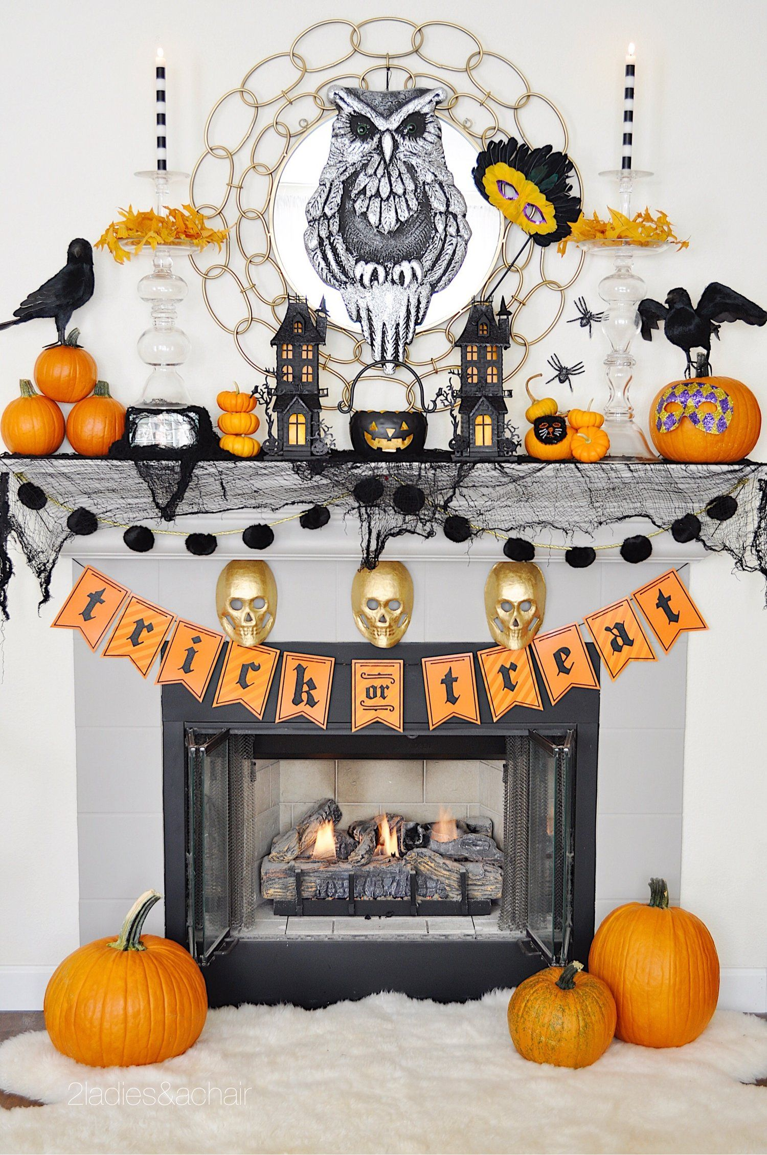 Oct 4 My Spooky Halloween Mantel Decorations Spooky halloween - Spooky Halloween Decorations