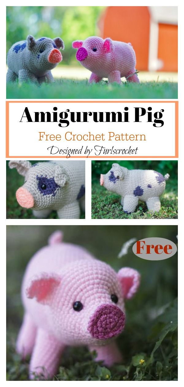 Amigurumi Mini Pig Free Häkelanleitung – Du liebst Schmuck ...