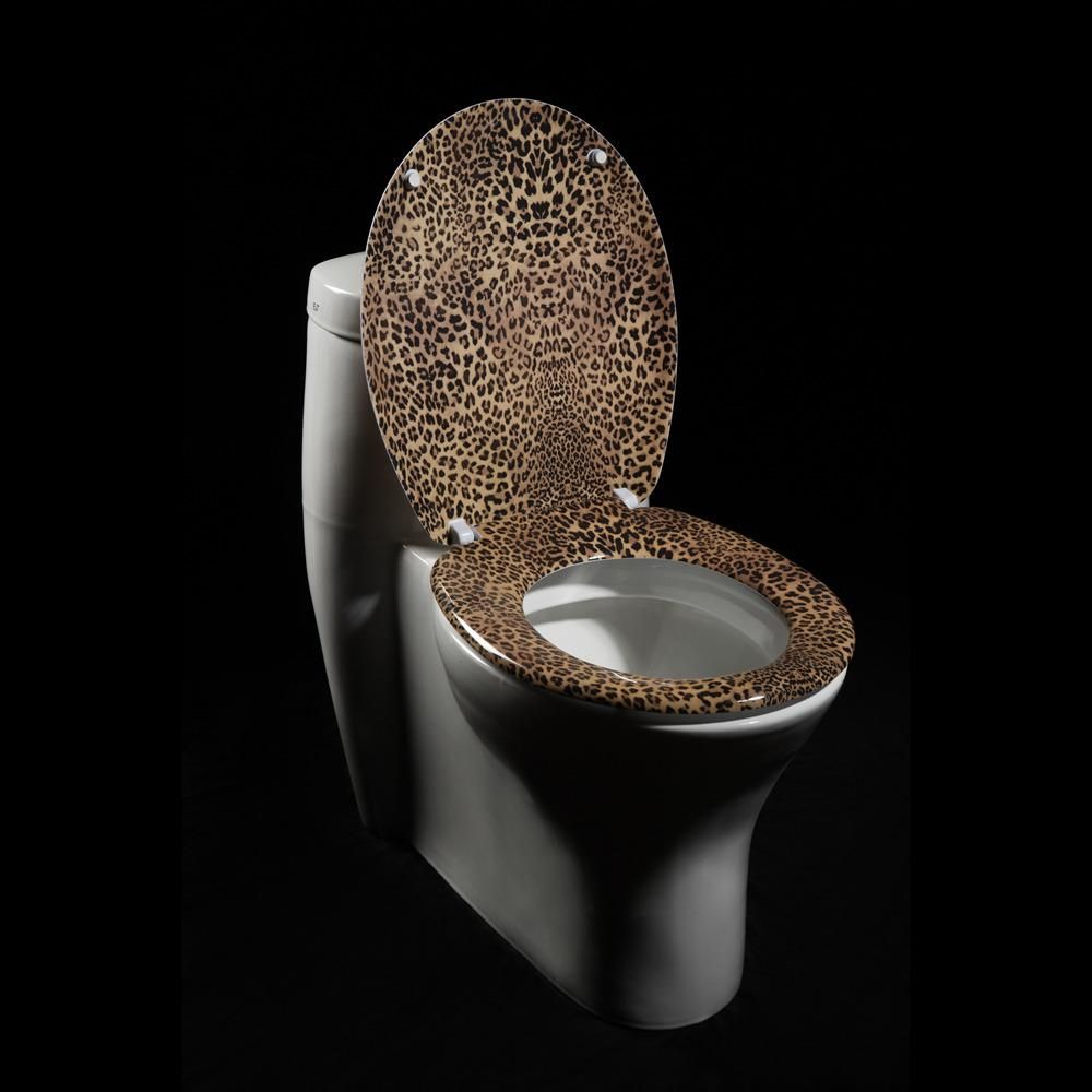 Leopard Elongated Toilet Seat Toilet Seat Toilet Seat Cover Print